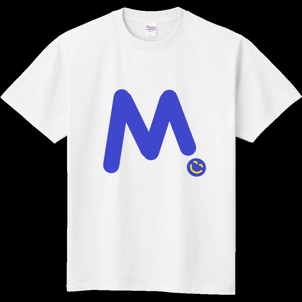 """イニシャル""""M""""&ほのぼの笑顔Tシャツ 定番Tシャツ"""