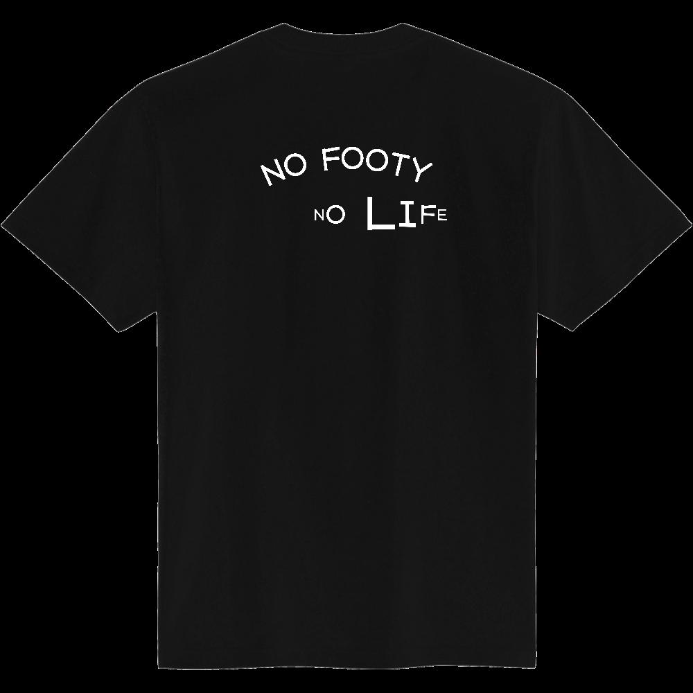 おもしろTシャツ NO FOOTY NO LIFE  ノーフッティ ノーライフ バックプリント 定番Tシャツ