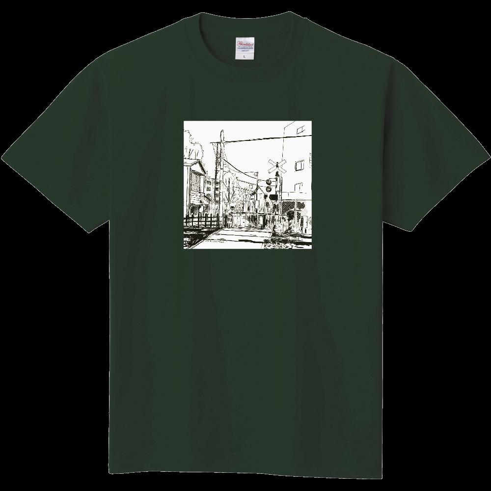 踏切(モノクロ) 定番Tシャツ
