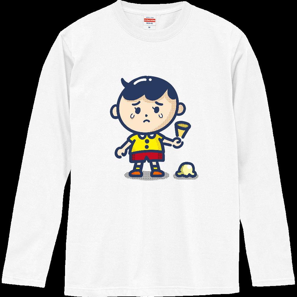 アイス落とした ロングスリーブTシャツ