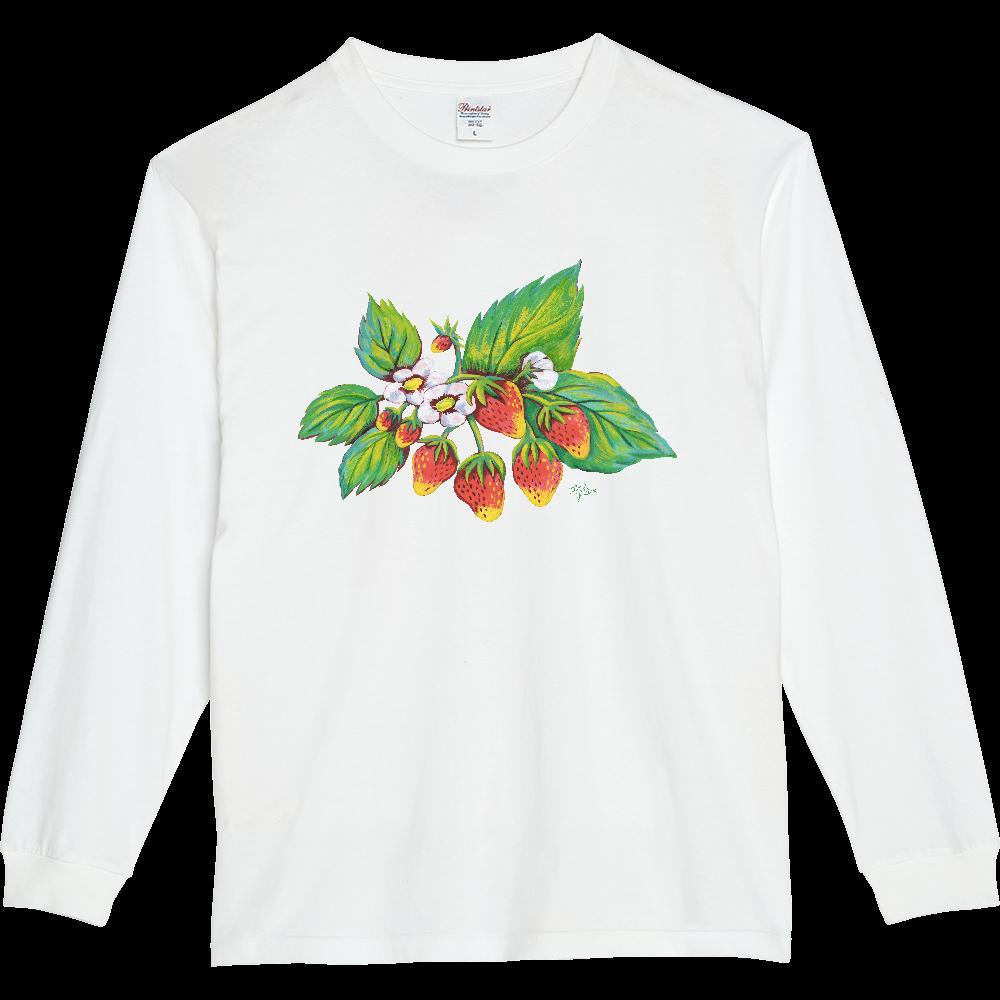 ストロベリー01 5.6オンスヘビーウェイトLS-Tシャツ(リブ付き)