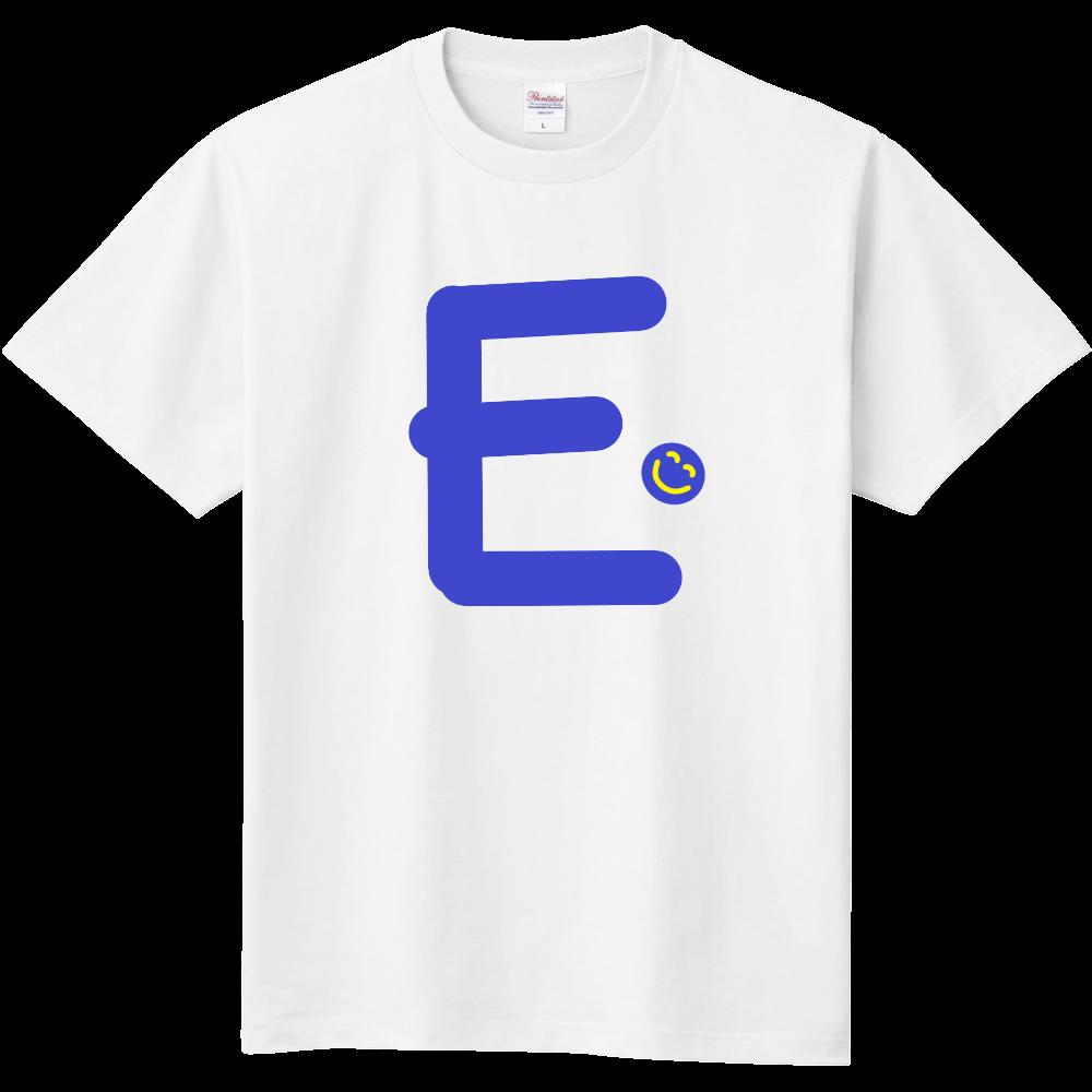 """イニシャル""""E""""&ほのぼの笑顔Tシャツ 定番Tシャツ"""