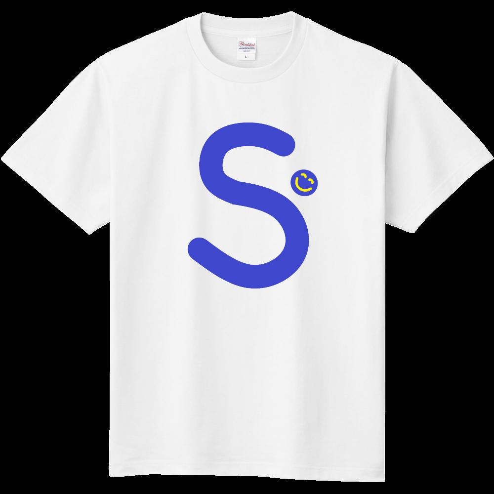 """イニシャル""""S""""&ほのぼの笑顔Tシャツ 定番Tシャツ"""