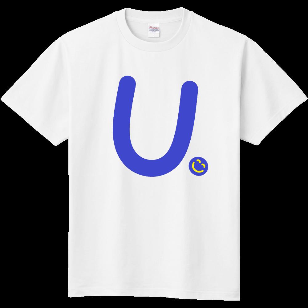"""イニシャル""""U""""&ほのぼの笑顔Tシャツ 定番Tシャツ"""