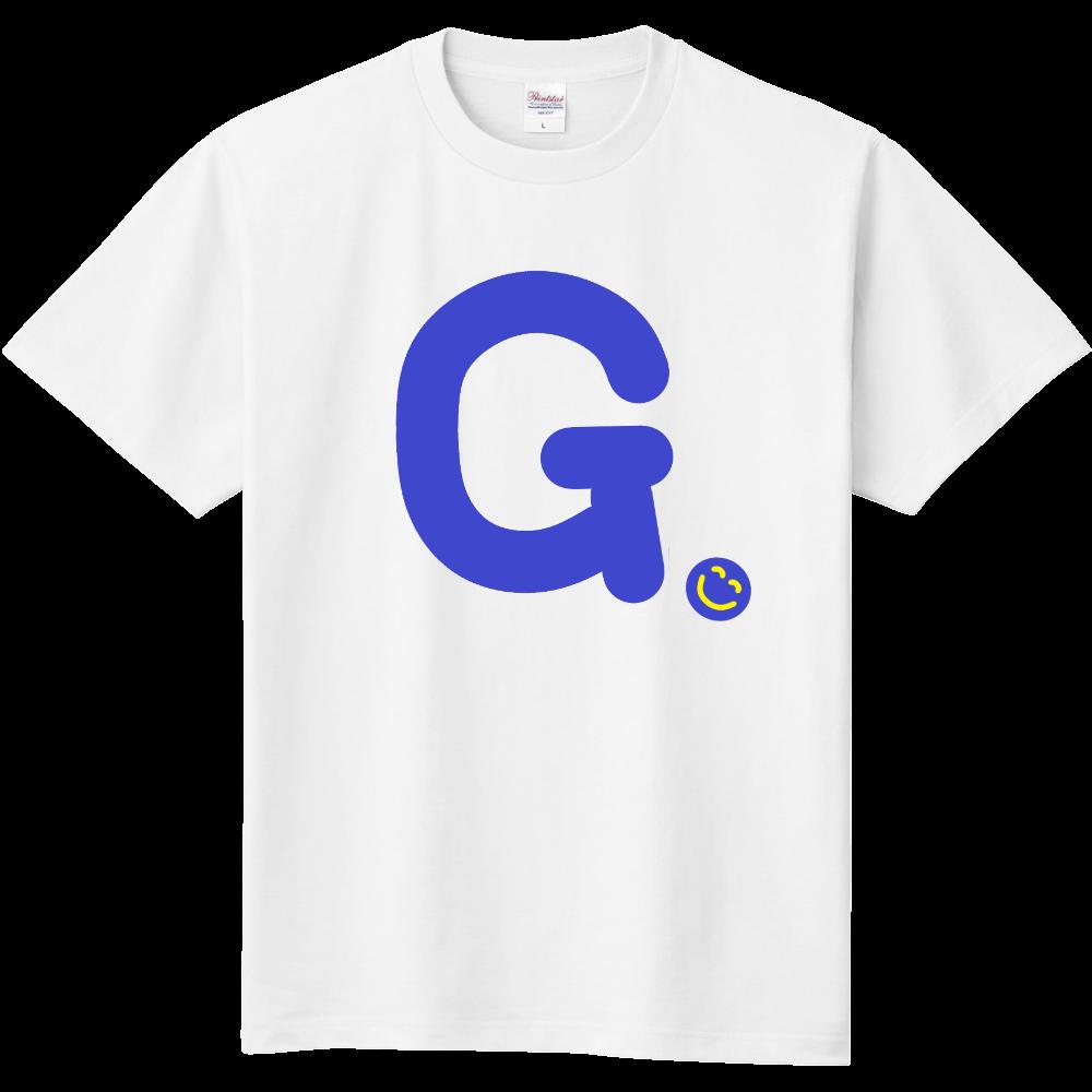"""イニシャル""""G""""&ほのぼの笑顔Tシャツ 定番Tシャツ"""