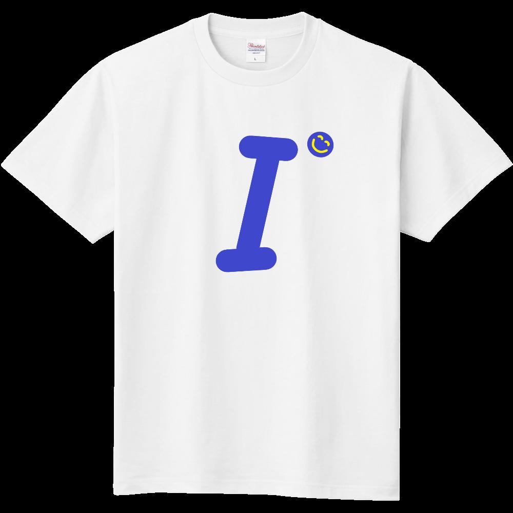 """イニシャル""""I""""&ほのぼの笑顔Tシャツ 定番Tシャツ"""