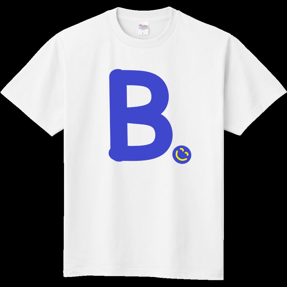 """イニシャル""""B""""&ほのぼの笑顔Tシャツ 定番Tシャツ"""