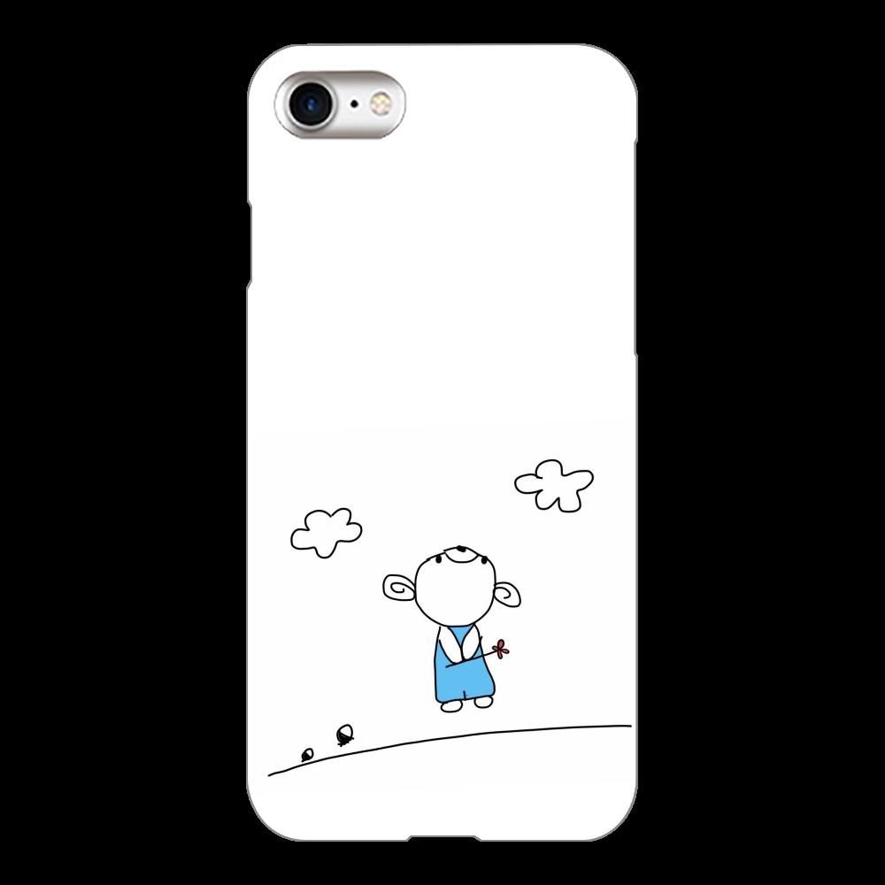 スマホケース こぐまのこぐー iPhone8(白)