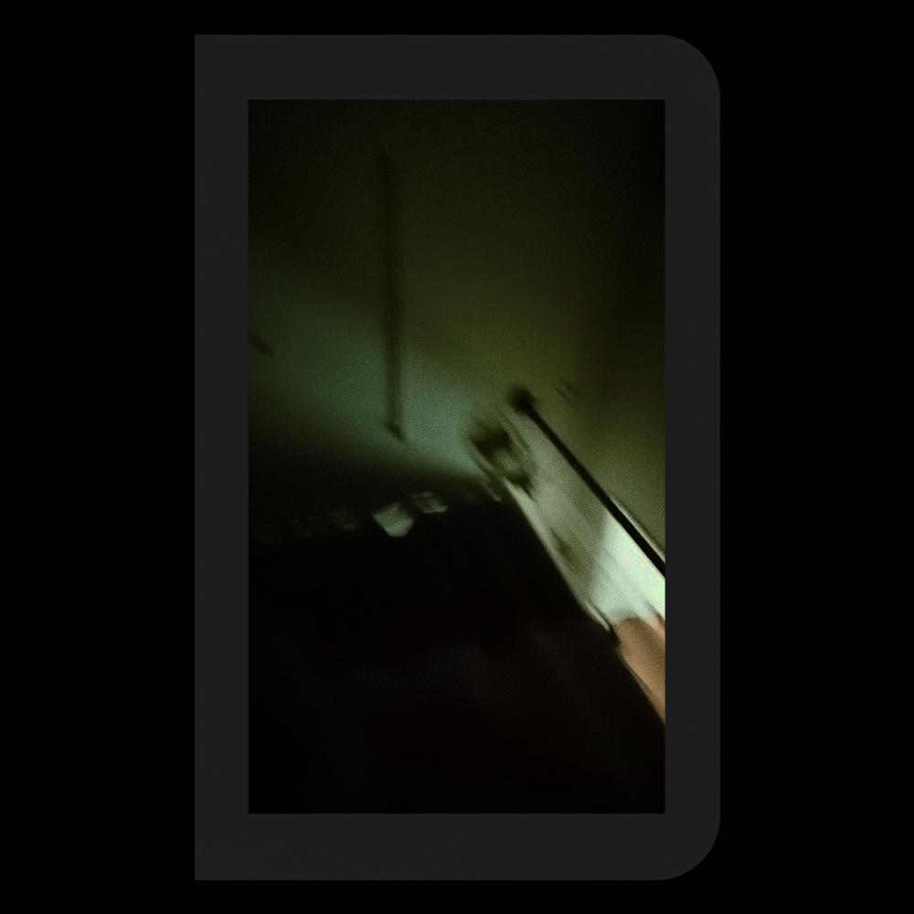 暗闇病室と点滴ミニノート ハードカバーミニノート(罫線)