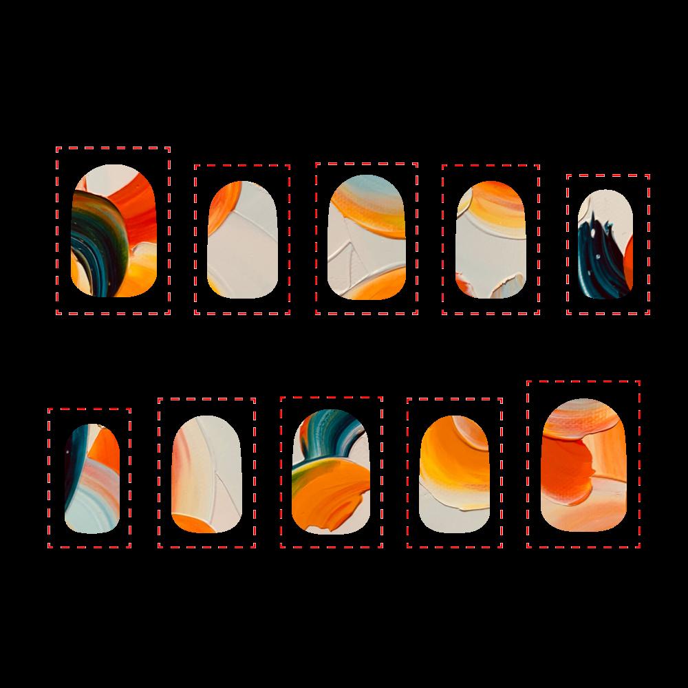 バレンシアの橙 SSサイズ ネイルチップSS