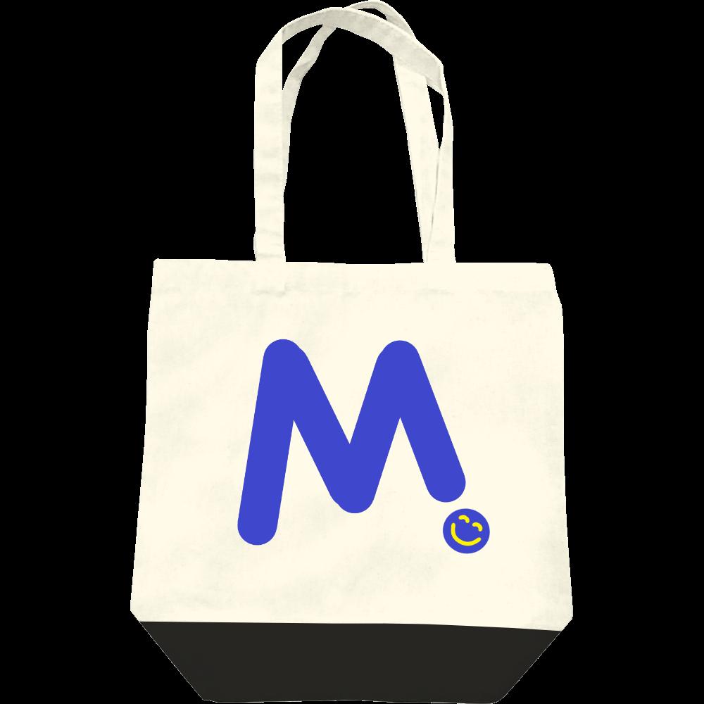 """イニシャル""""M""""&ほのぼの笑顔トートバッグ レギュラーキャンバストートバッグ(M)"""