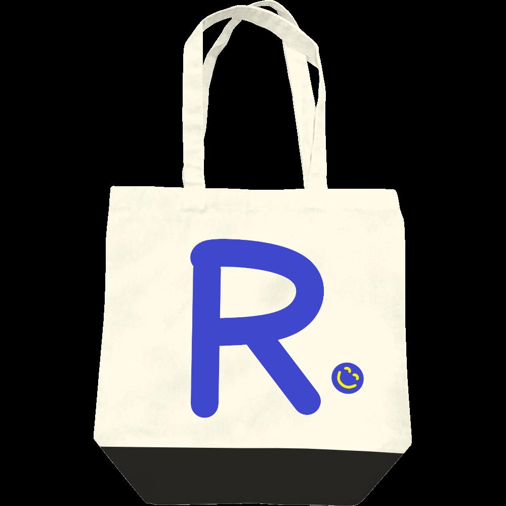 """イニシャル""""R""""&ほのぼの笑顔トートバッグ レギュラーキャンバストートバッグ(M)"""