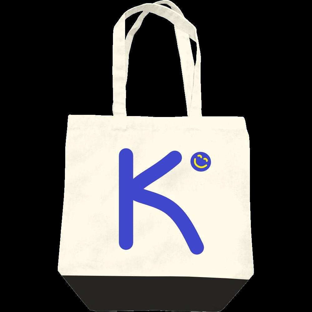 """イニシャル""""K""""&ほのぼの笑顔トートバッグ レギュラーキャンバストートバッグ(M)"""