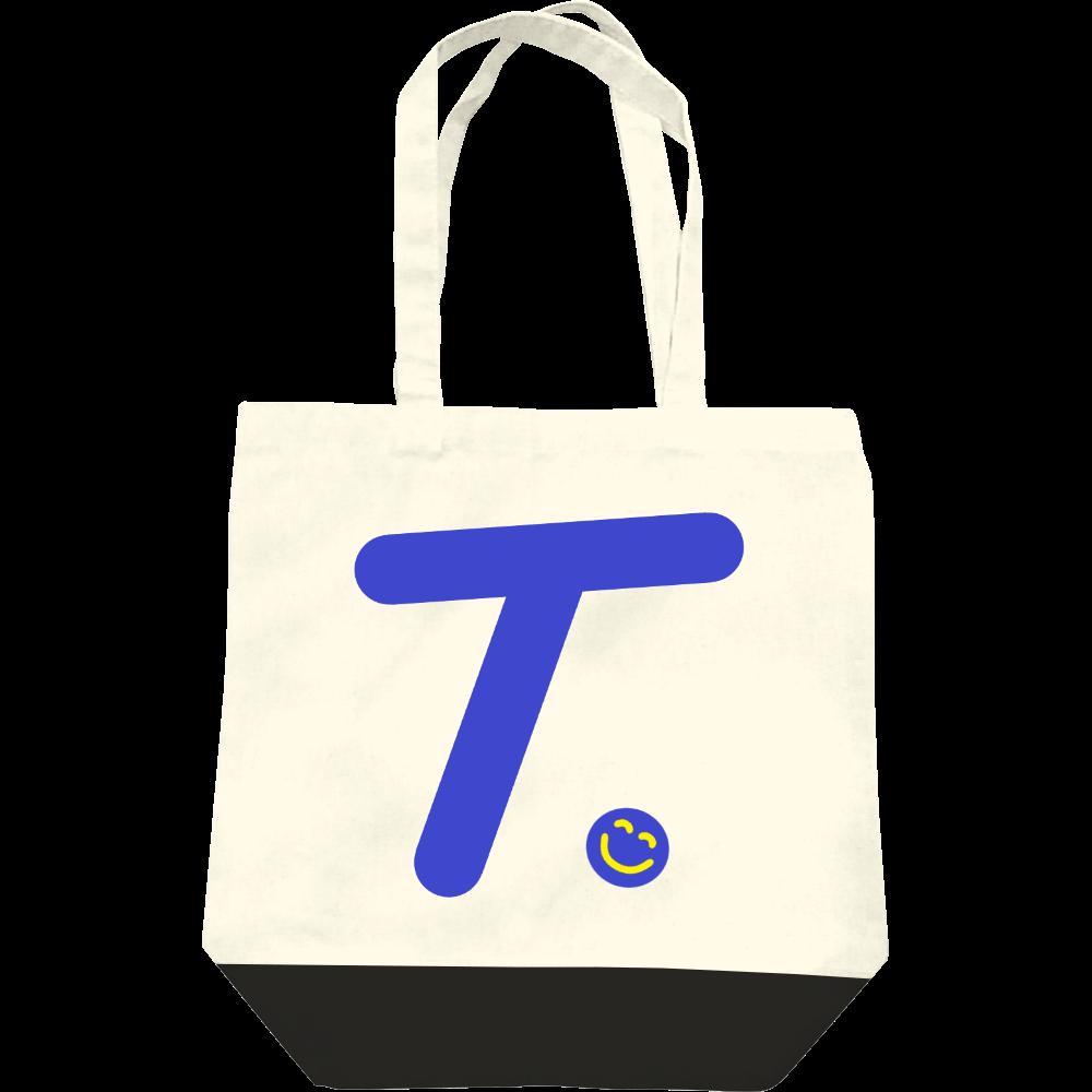 """イニシャル""""T""""&ほのぼの笑顔トートバッグ レギュラーキャンバストートバッグ(M)"""