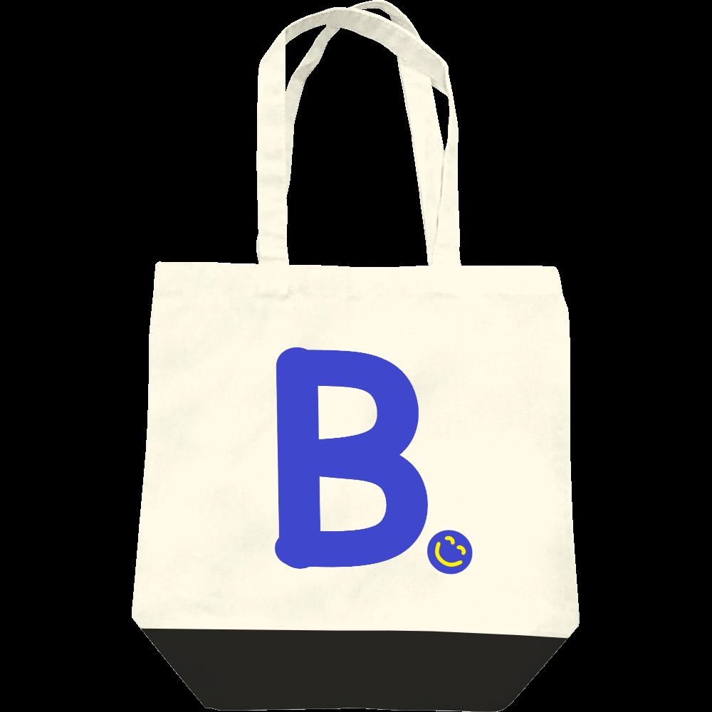 """イニシャル""""B""""&ほのぼの笑顔トートバッグ レギュラーキャンバストートバッグ(M)"""
