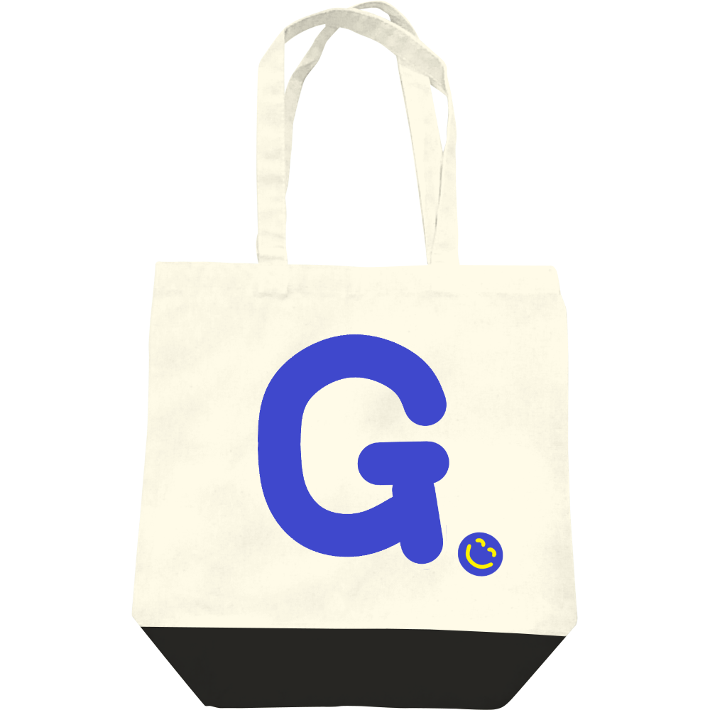 """イニシャル""""G""""&ほのぼの笑顔トートバッグ レギュラーキャンバストートバッグ(M)"""