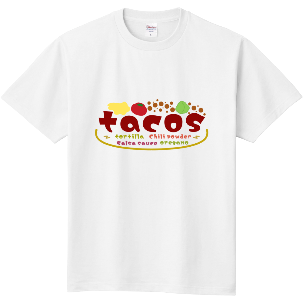 フードコーディネート~タコス~半袖Tシャツ 定番Tシャツ