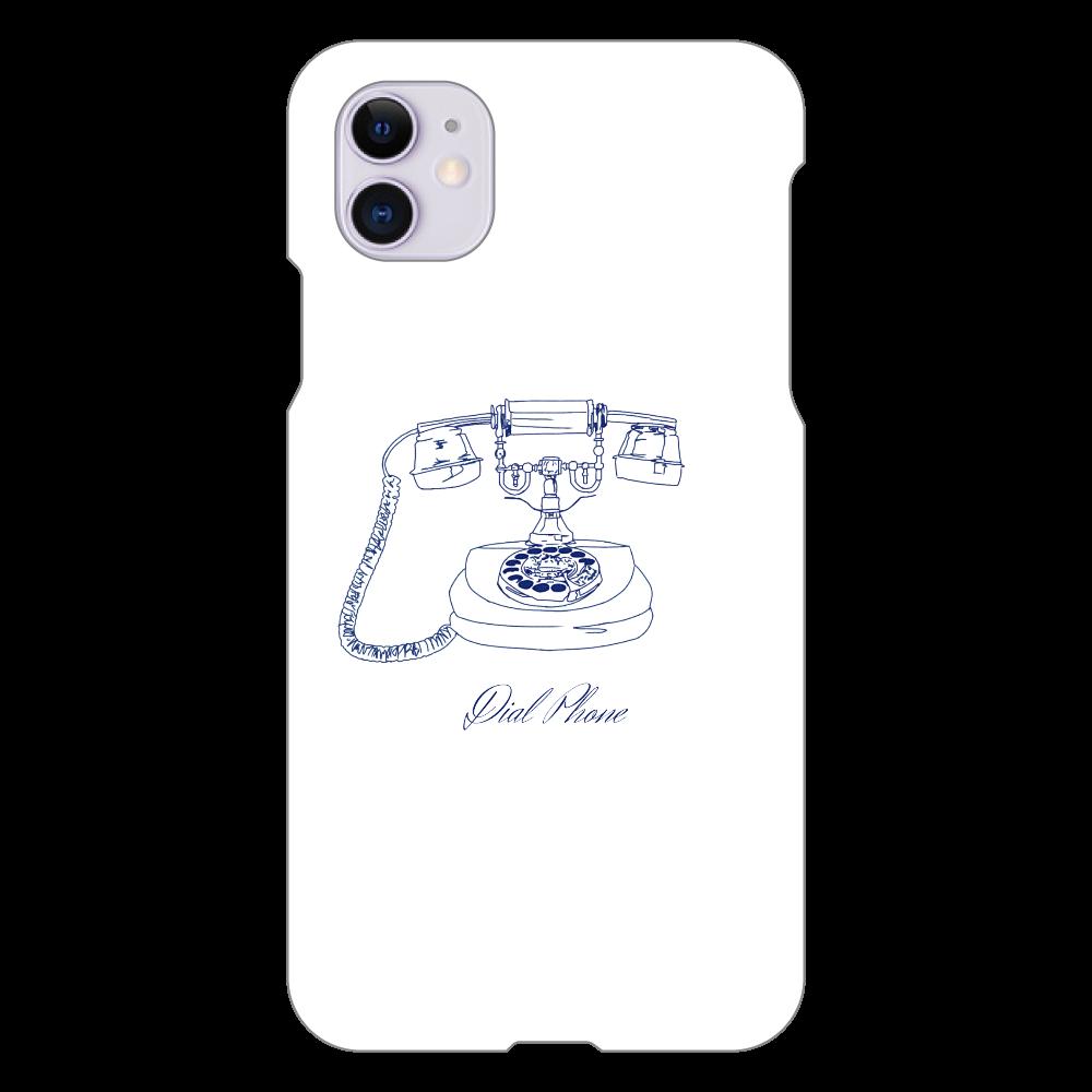 ダイアル式電話機 iPhone 11(白)