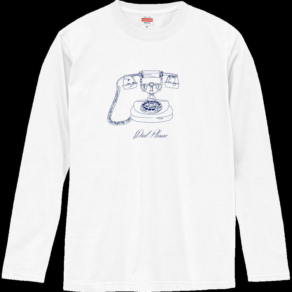 ダイアル式電話機 ロングスリーブTシャツ