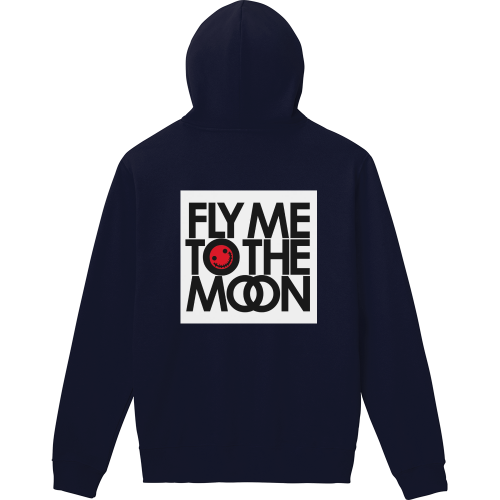 FLY ME TO THE MOON 軽量プルパーカー