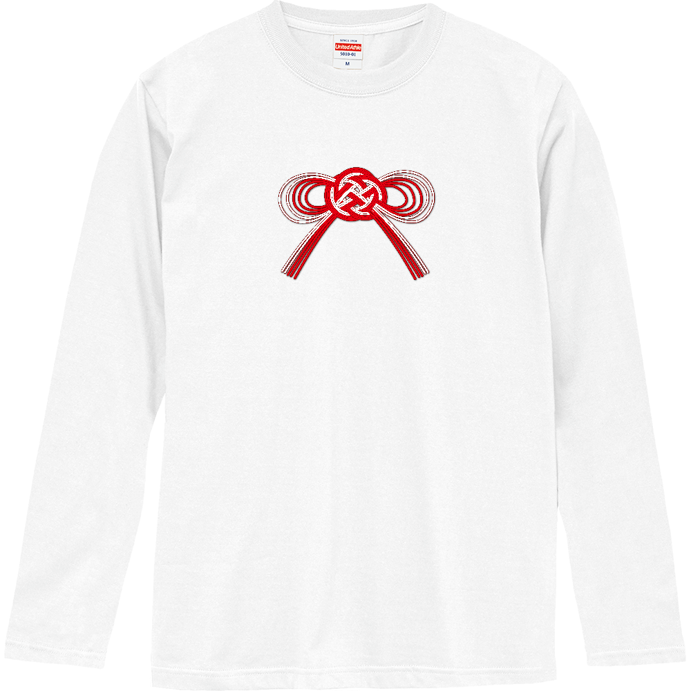 水引風リボン ロングスリーブTシャツ