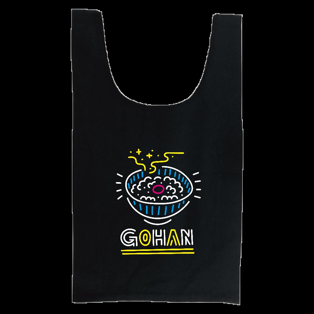 GOHAN(ネオン風ごはん) 厚手コットンマルシェバッグ(M)