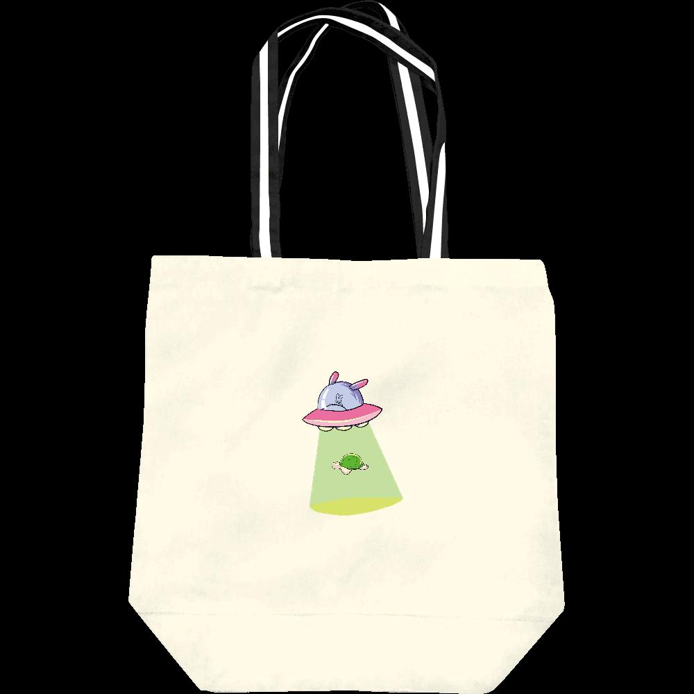 キャトるUFOうさぎ(シンプルカメ)キャンバストートバッグM レギュラーキャンバストートバッグ(M)