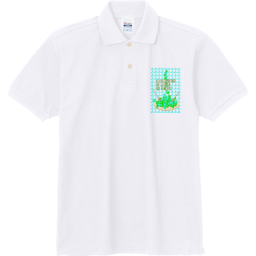 クローバーとお皿2 定番ポロシャツ