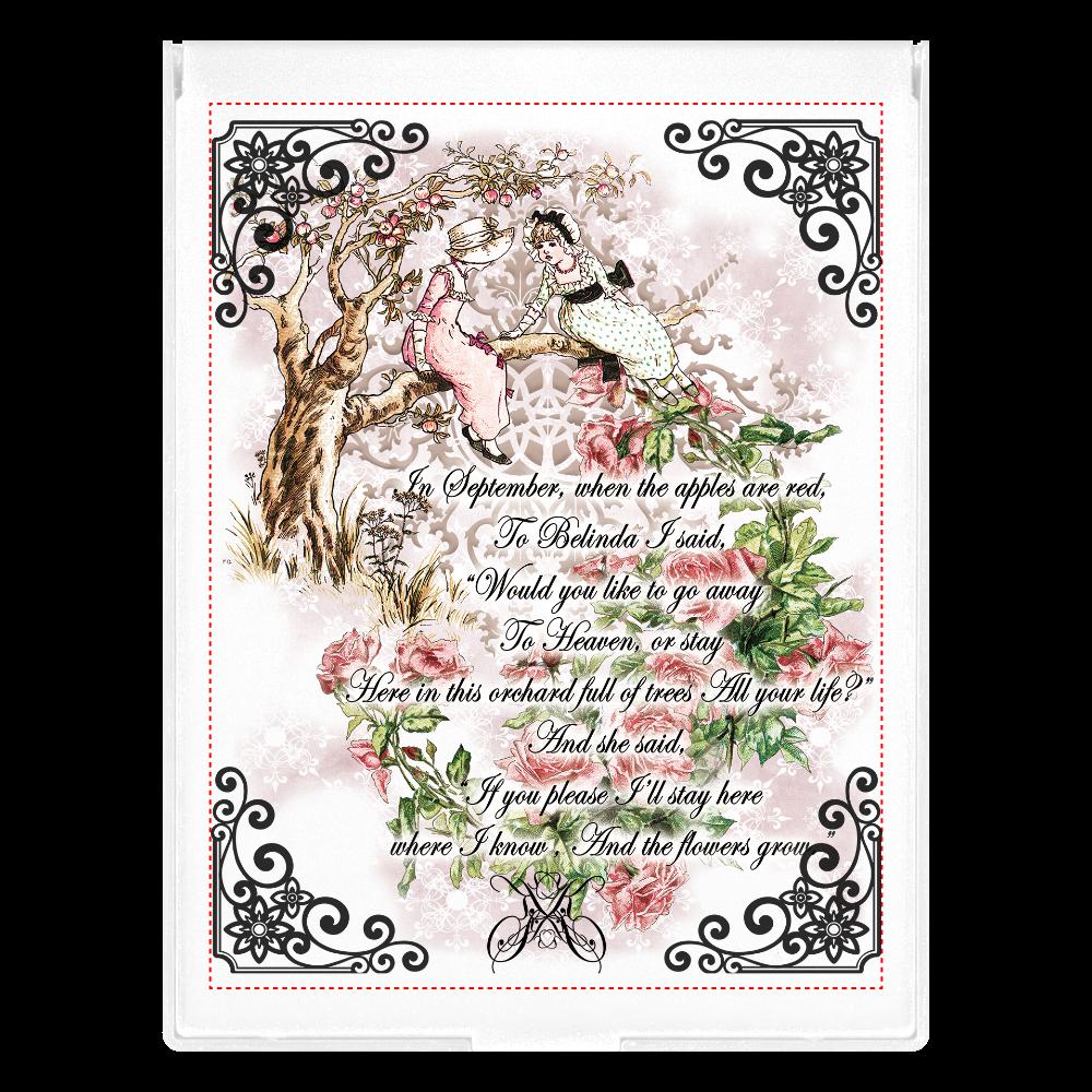 フロストスクエアミラー[ Innocence girls ]*Doll&TeaSalon Rosemoonのオリジナルデザイン フロストスクエアミラー(L)