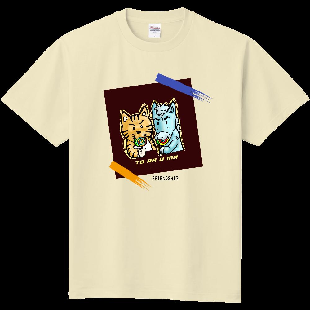 「とら★☆うま」くん トラウマ×とみざわコラボ チャリティー 定番Tシャツ