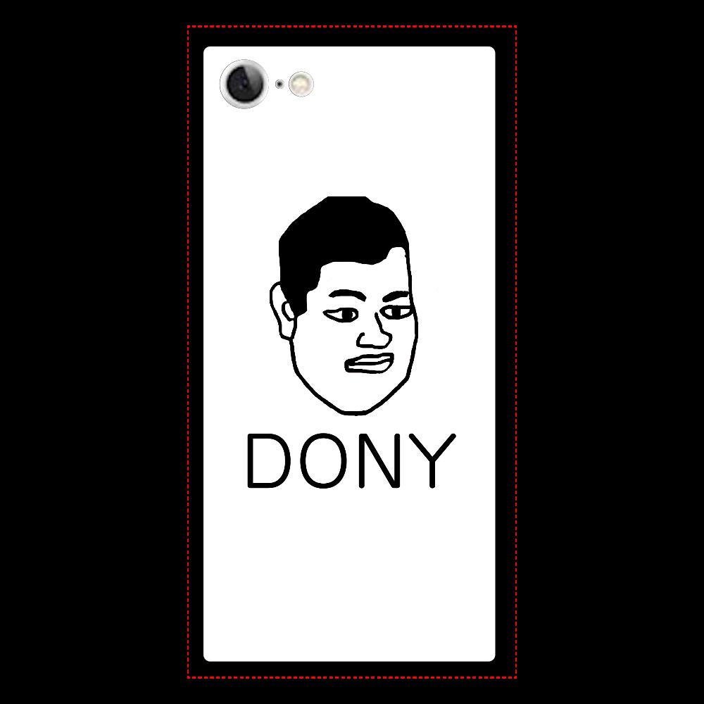 ドニーちゃんiPhone7カバー iPhone7 背面強化ガラス(スクエア)