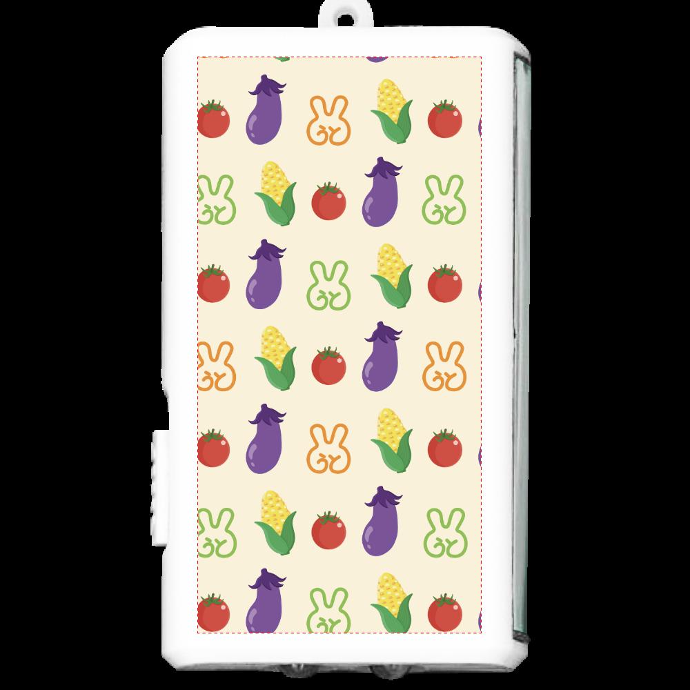 お野菜モバイルバッテリー オリジナルフラットライト(カラビナ付)