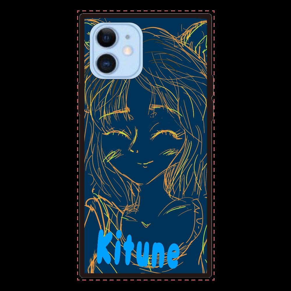 Kitune  iPhone12 、12pro iPhone12/12pro 背面強化ガラス(スクエア)