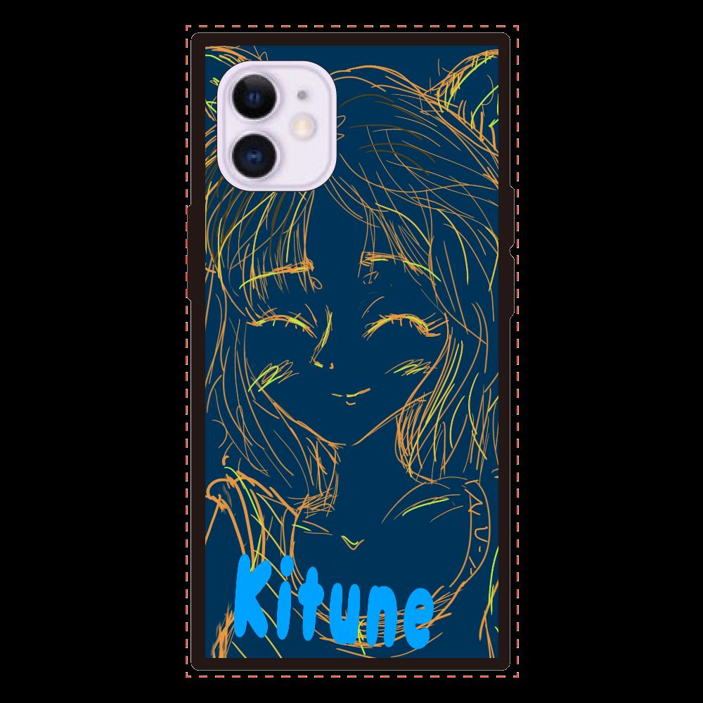 Kitune iPhone12mini iPhone12mini 背面強化ガラス(スクエア)