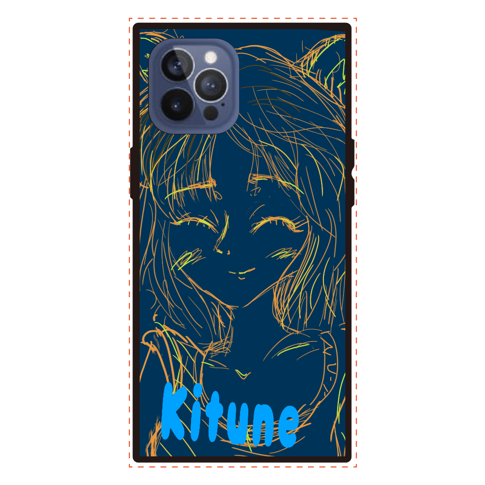 Kitune iPhone12promax iPhone12pro max 背面強化ガラス(スクエア)
