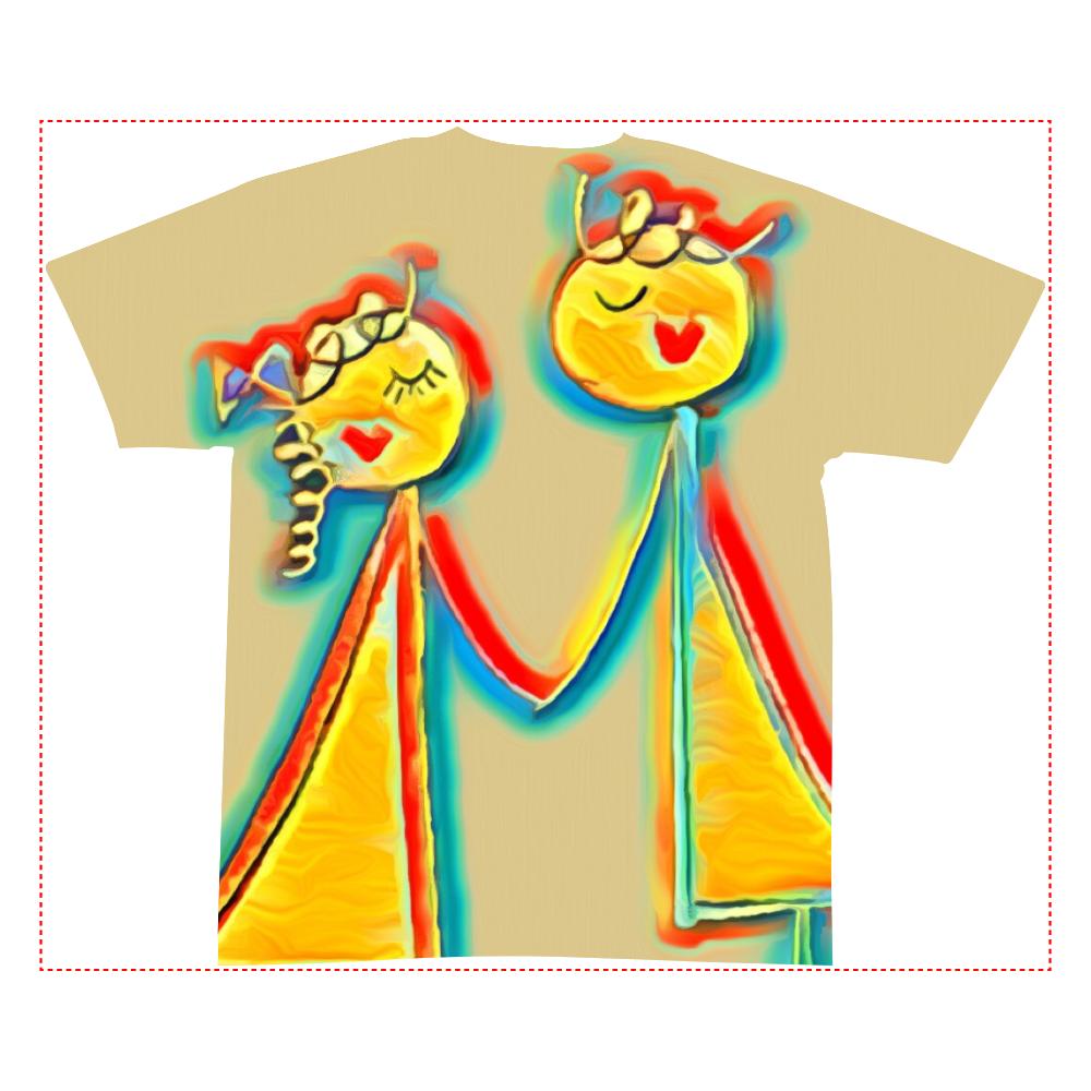 出会い 全面インクジェットTシャツ(S)