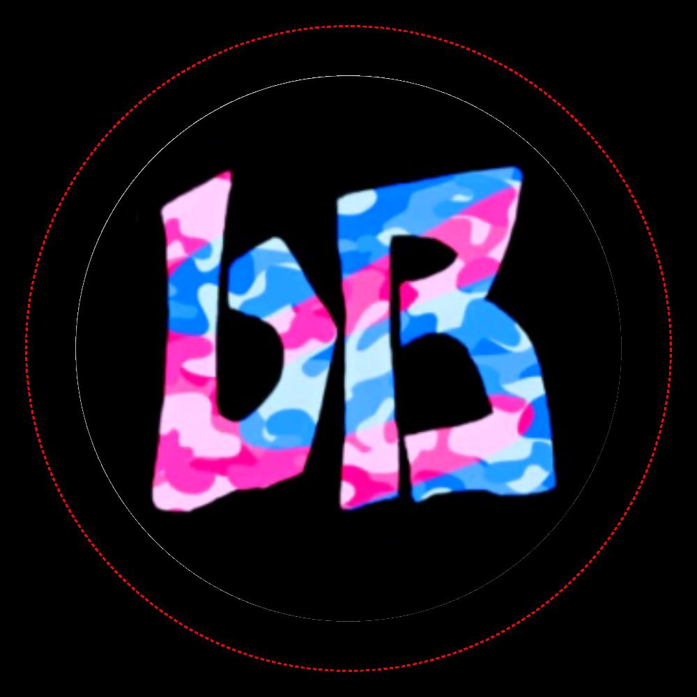 bB 缶バッジ 迷彩ピンクブルー オリジナル缶バッジ(44mm)
