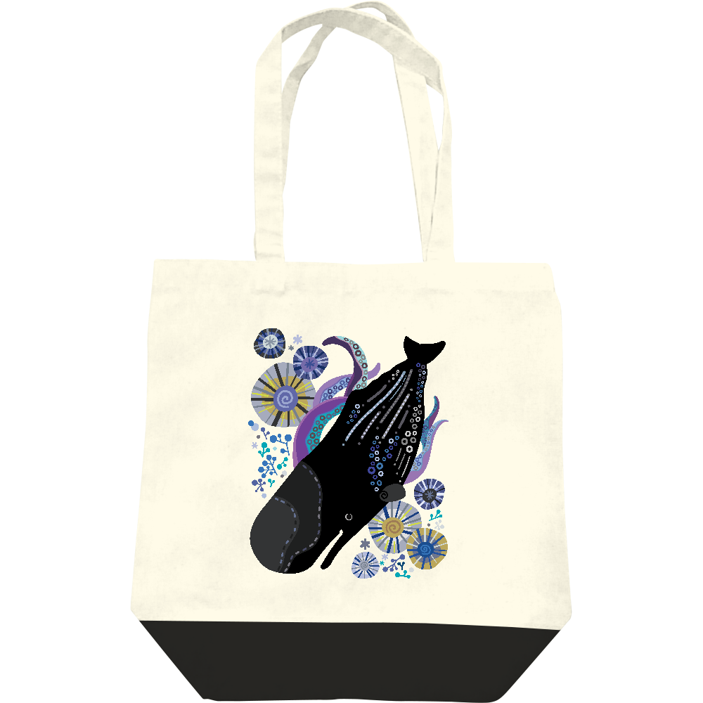 マッコウクジラの潜水 レギュラーキャンバストートバッグ(M)