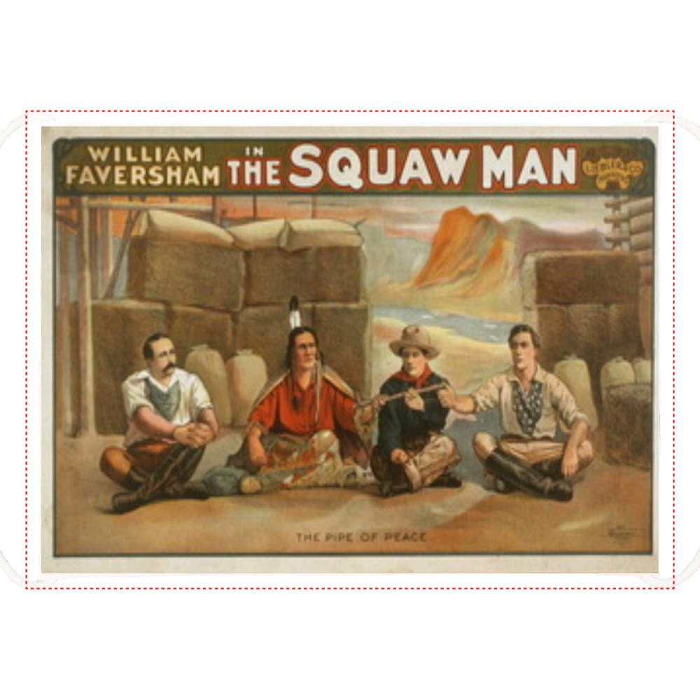 ポップアート ポスター マスク WILLIAM FAVERSHAM THE SQUAW MAN ひんやりマスク