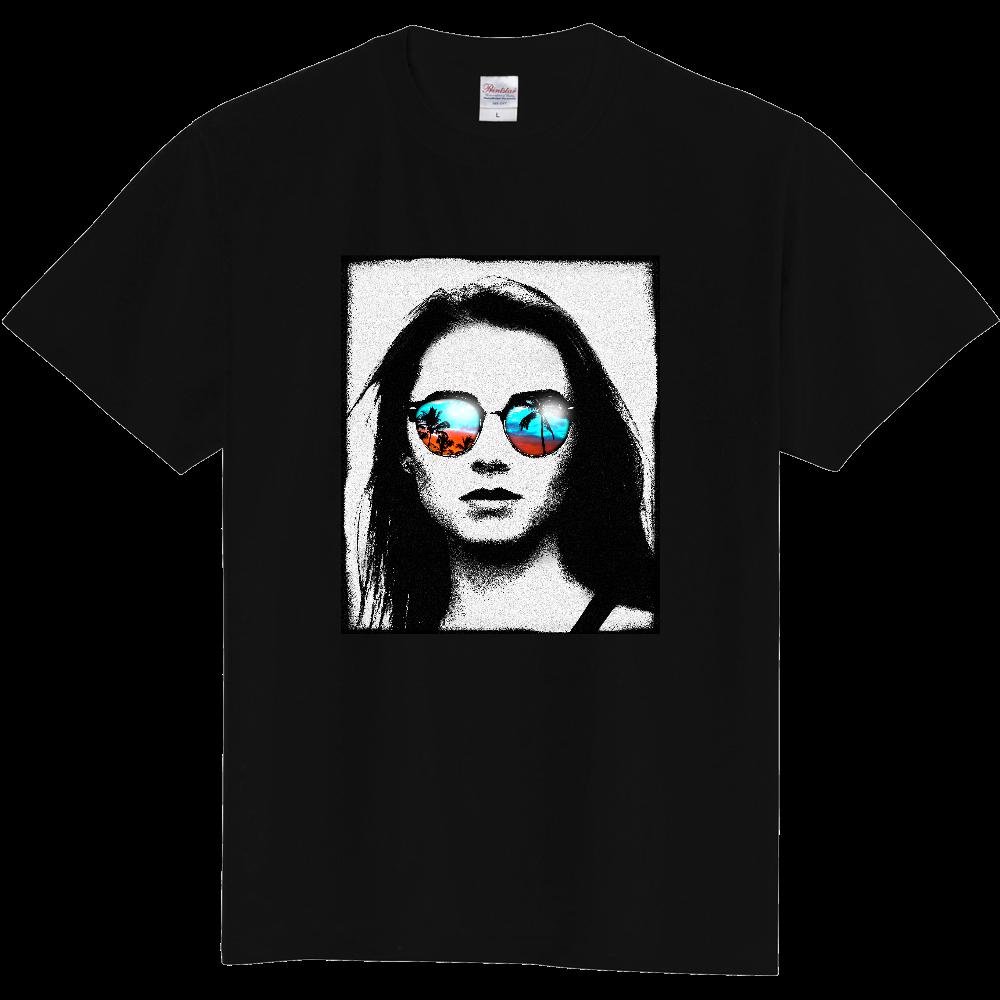 サンセットを見つめる女 定番Tシャツ