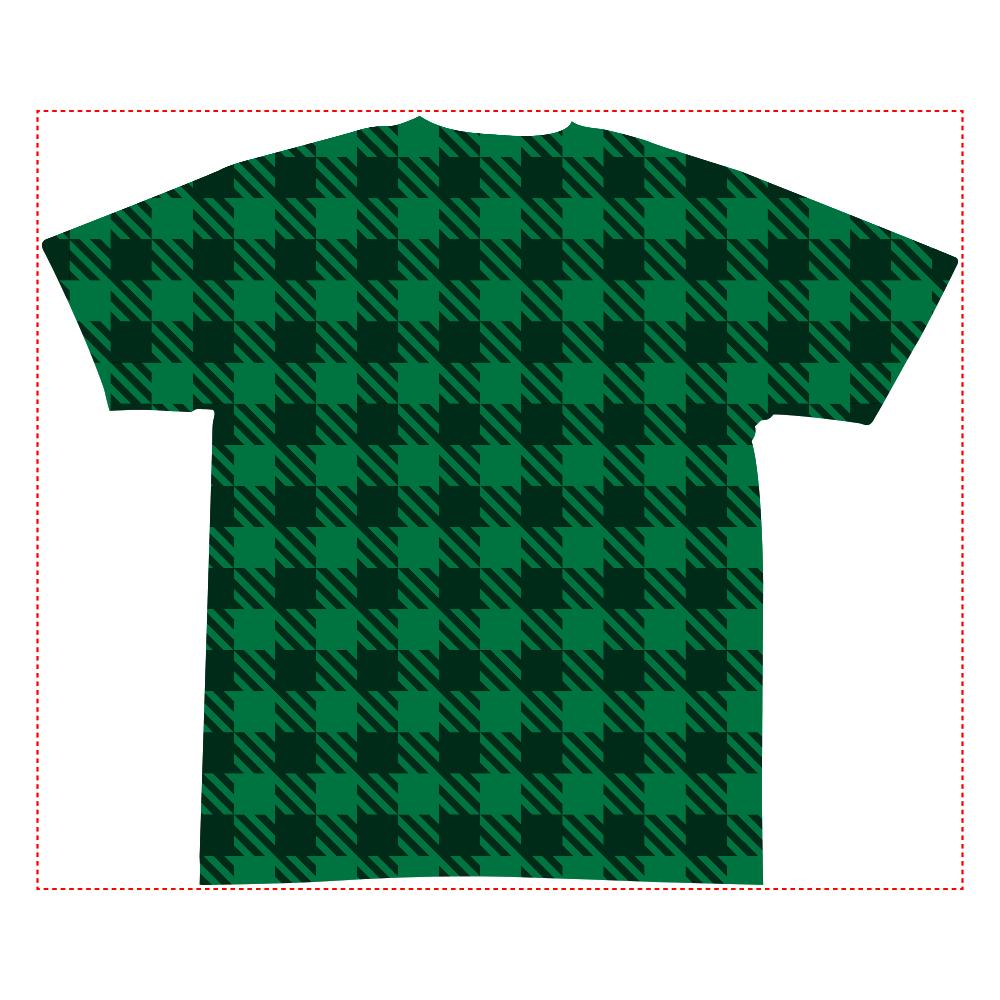 おもしろTシャツ ちょっと違う、、、炭治郎風の「市松」柄もどき メンズ レディース 全面インクジェットTシャツ(S)
