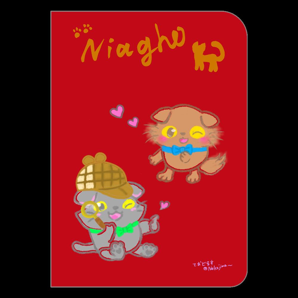 ねこのニャッホと❁(サイン入り)全4色のノート♡(シンプルVer.) ハードカバーポケットノート