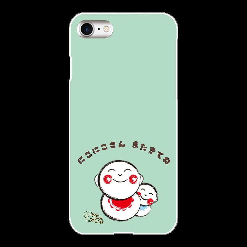 にこにこさん Aタイプ スマホケース iPhone iPhone8(白)
