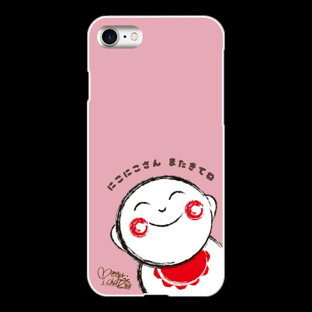 にこにこさん Bタイプ スマホケース iPhone iPhone8(白)