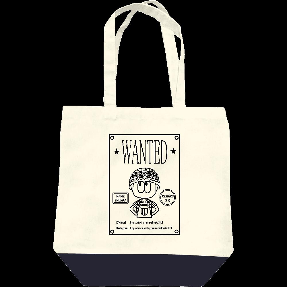 ハンバーガーファッション/指名手配犯のポスター風(WANTED) レギュラーキャンバストートバッグ(M)