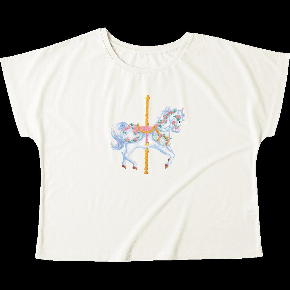 メリーゴーランド01 ウィメンズ ドルマン Tシャツ