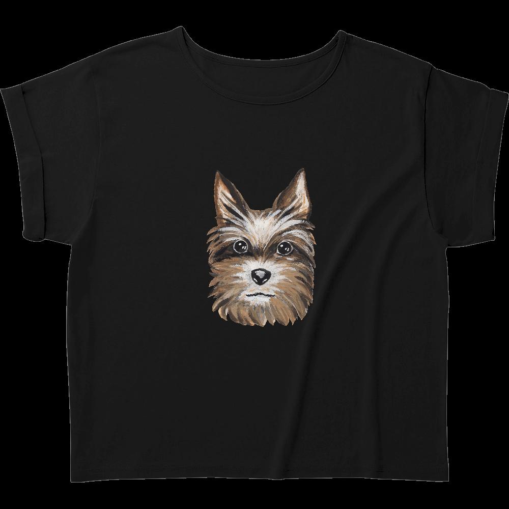ヨークシャテリア01 ウィメンズ ロールアップ Tシャツ