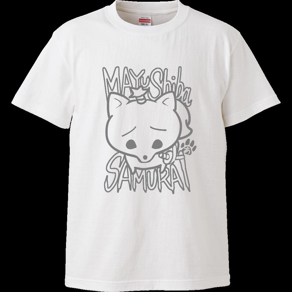 まゆしばサムライの半袖Tシャツ ハイクオリティーTシャツ