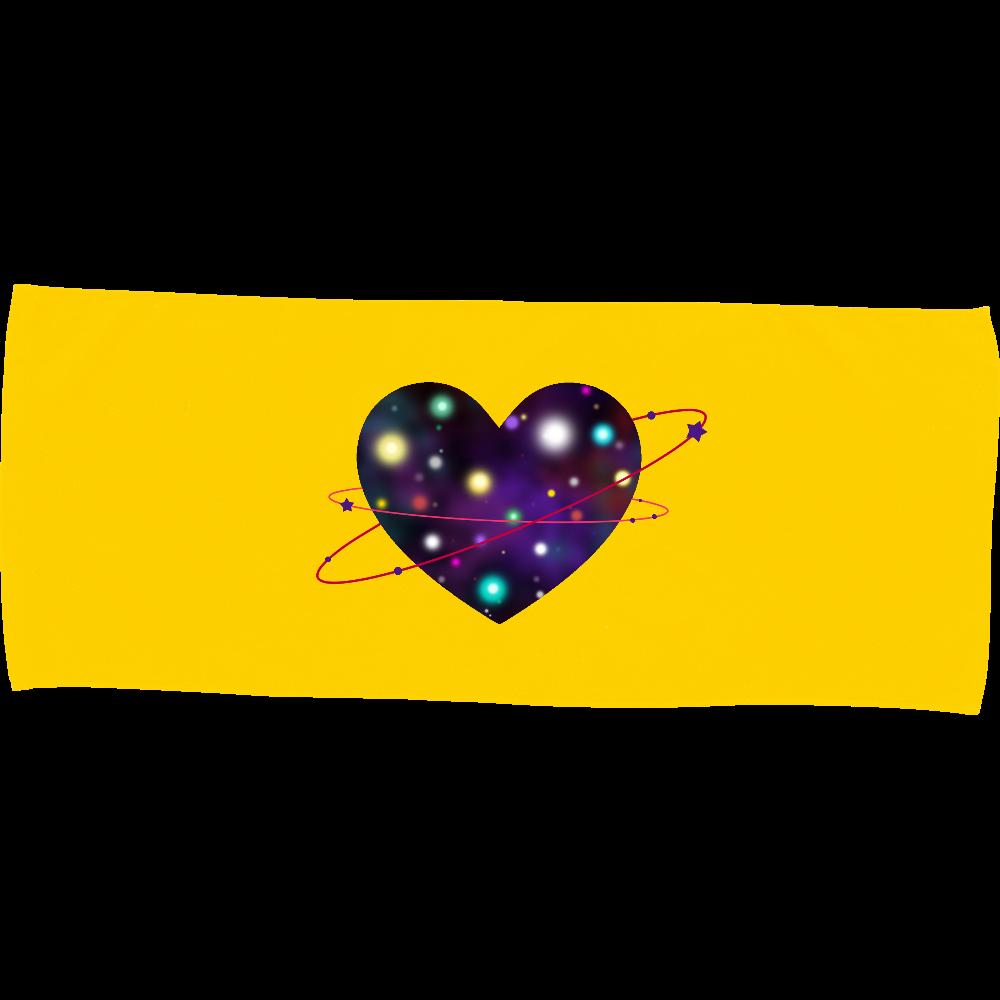 ハート 宇宙 タオル カラーフェイスタオル