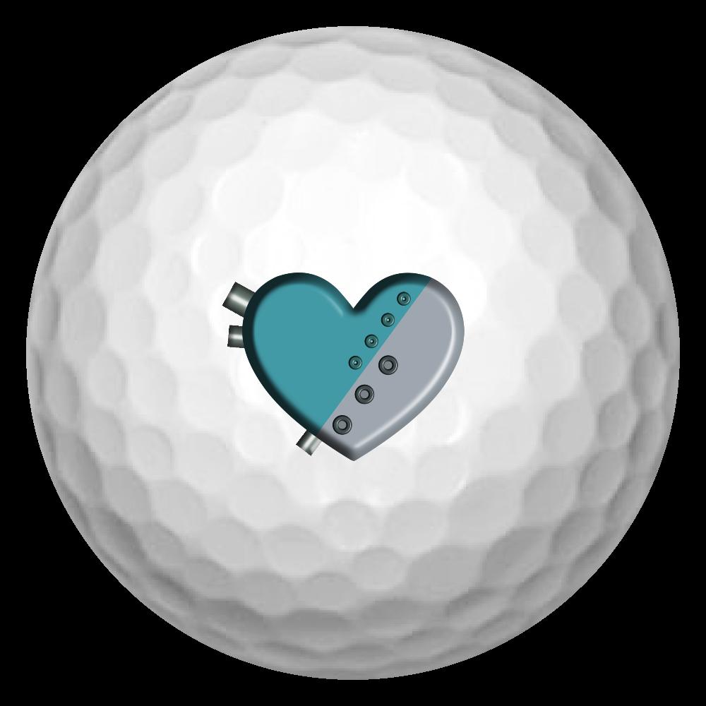 ハート 機械 ゴルフボール(3個セット) ゴルフボール(3個セット)